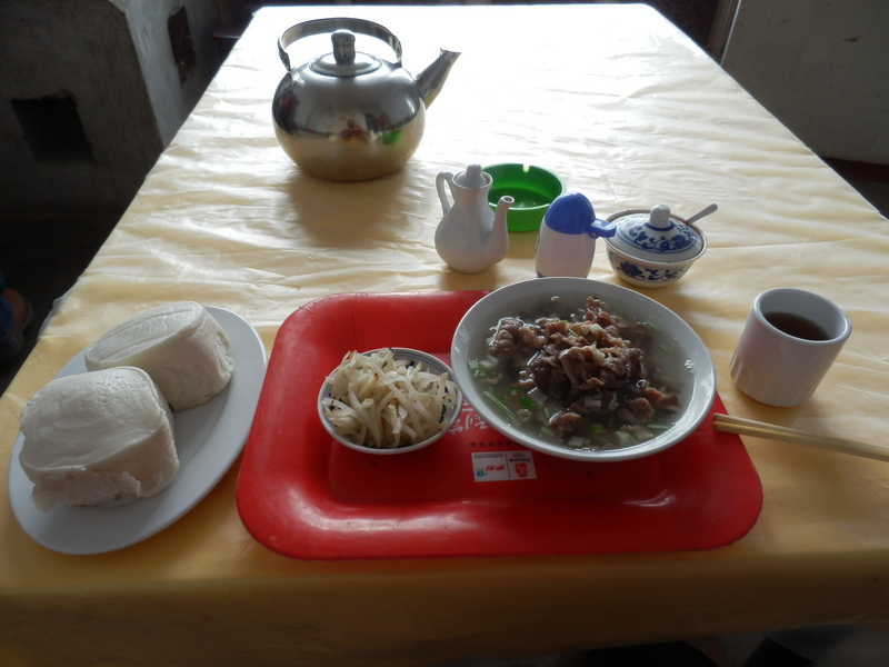 Breakfast: Sheep Meat and Mantou