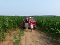 #3: Peter and Andy with our car on the track between the cornfields