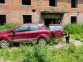 #2: We parked in a clearing in front of an old abandoned school