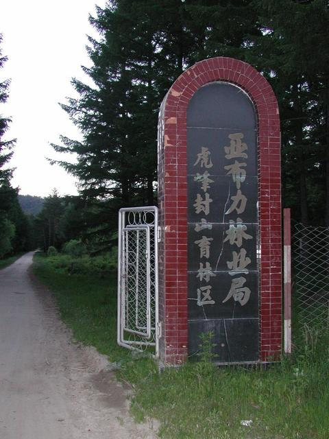 Entrance to the Tiger Peak Forest reserve - the road leading to the CP