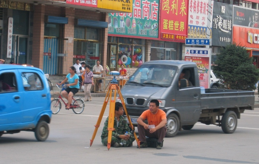 GPS Surveying in Lóngjiāng