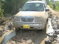 #9: Our car stuck in the mud