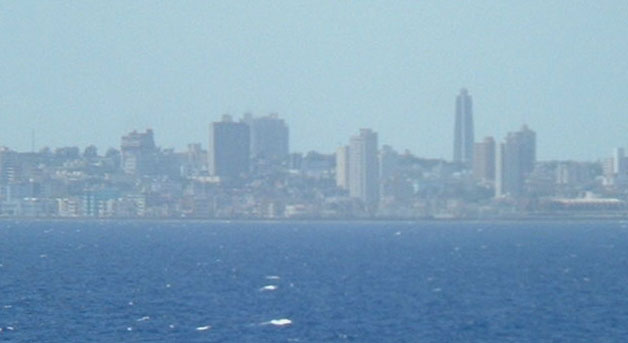 Modern Havanna seen from the sea