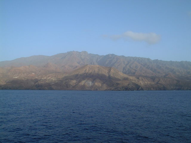Ilha de Santo Antão seen towards North from the Confluence