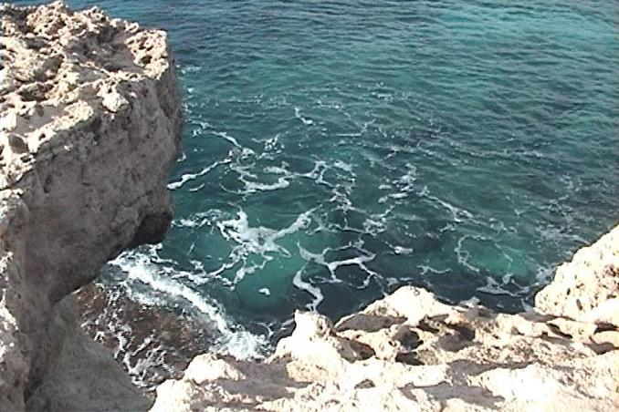 The turquoise waters of the Mediterranean Sea at Cape Greco