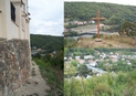 #9: Path along the southern wall to the cross and the vantage point over the Berounka river