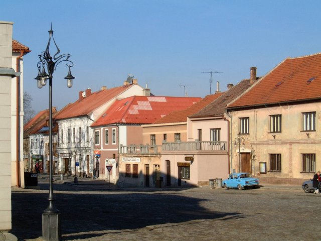 The old town square in Kourim.