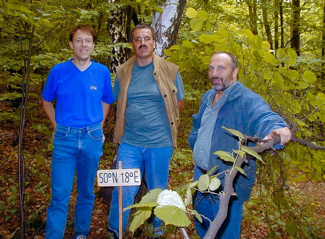 Martin, Hans & Klaus surrounded by trees