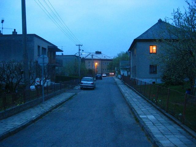 The Nearest Street in Hněvošice