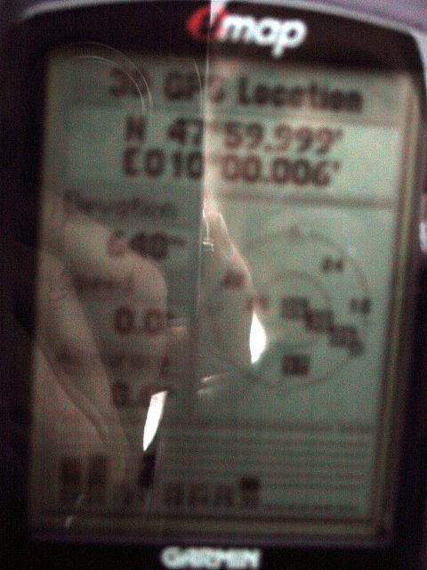 GPS Display - Not so nice numbers (The other pictures are unreadable :-)