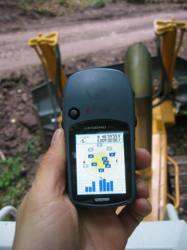 GPS Reading on the Dozer