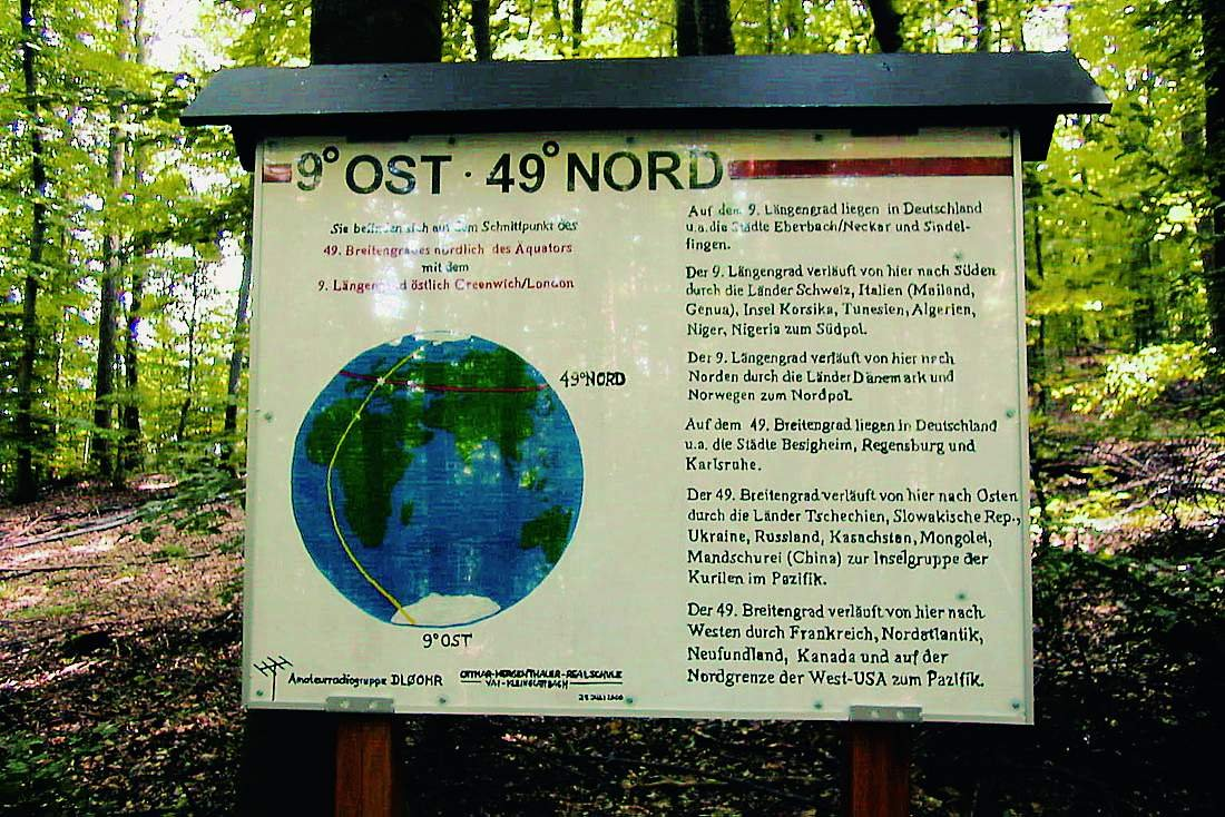 Information board at 49N 9E