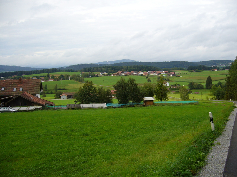 View from my parking place towards noth. CP 110 metres on my right hand side.
