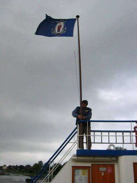 Flying a Flag at the Ferry Crossing