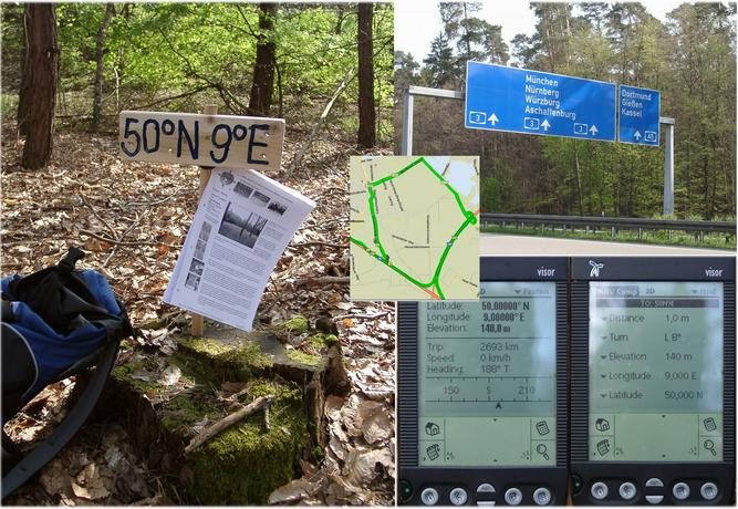 The spot, the A3, map & GPS reading