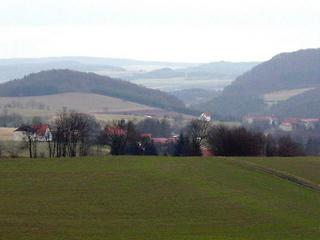 #1: The village of Blankenbach - view to the north from the confluence