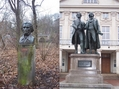 #10: Weimar - the city of poets: Adam Mickiewicz (left), Johann Wolfgang von Goethe and Friedrich Schiller (right)