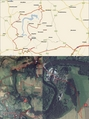 #8: My track on the map (© Microsoft AutoRoute 2002) and on the satellite image (© Google Earth 2007)