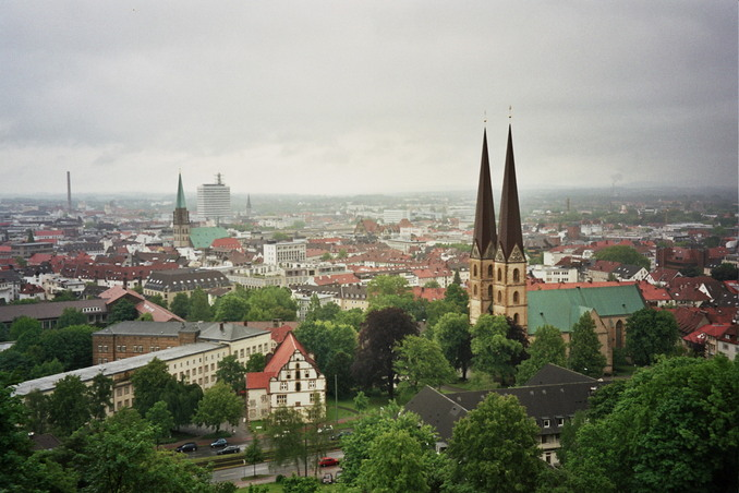 Bielefeld - view of the city from the castle