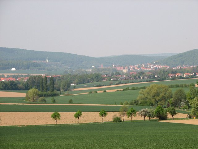 View north - Bad Salzdetfurth can be seen in the distance