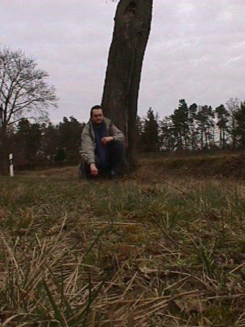 Me at the tree