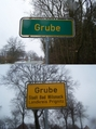 #10: Village of Grube signs