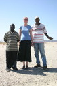 #8: Mohammed, Angelica, and Abdul Kader at the CP (left to right)