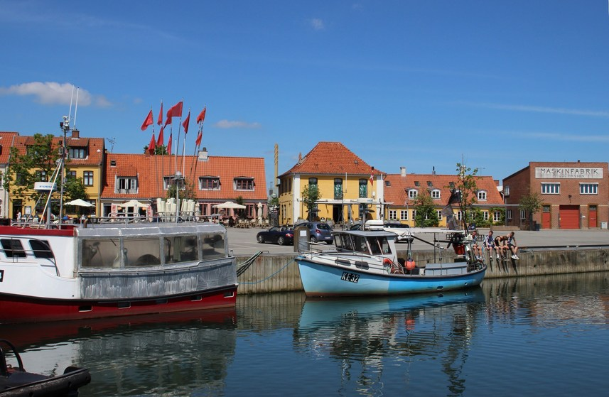 the port of Køge, 50 km north of the CP
