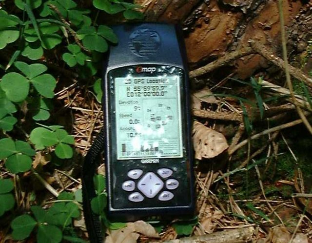 Picture of the GPS at the Confluence