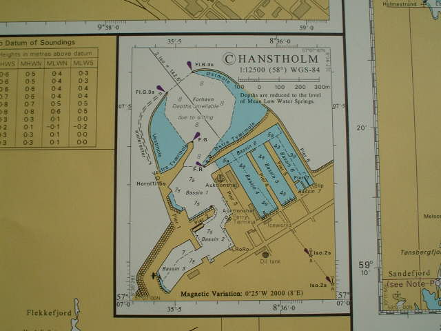 Map of the port of Hanstholm