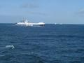 #6: A ferry overtaking Captain Peter in the Skagerrak