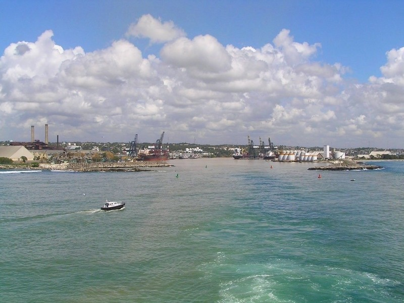 The port of Río Haina seen from South