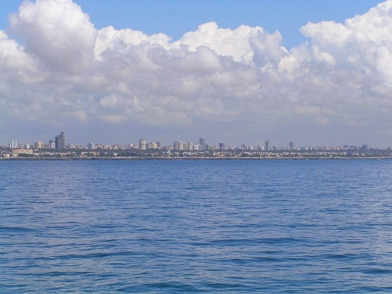 Santo Domingo seen from Río Haina