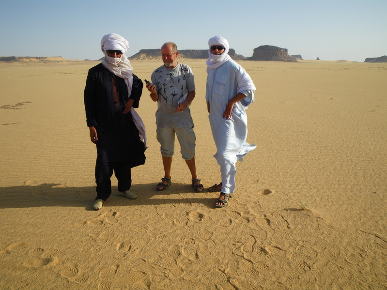 That's me with my friend Siddiq Mehiri and our guide Baba from Tamanrasset