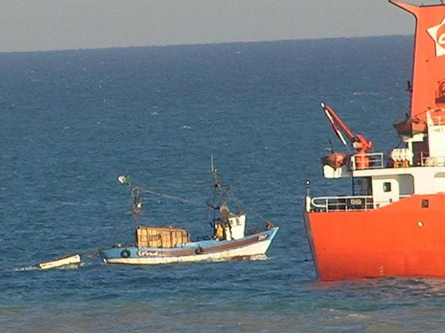 A small Algerian fishing boat