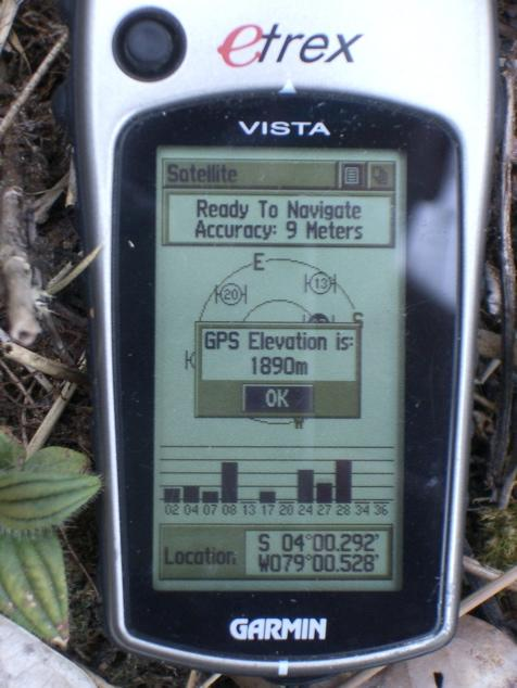 Nearest point we got to. GPS elevation not accurate, according to altimeter we are ca. 60meters higher.