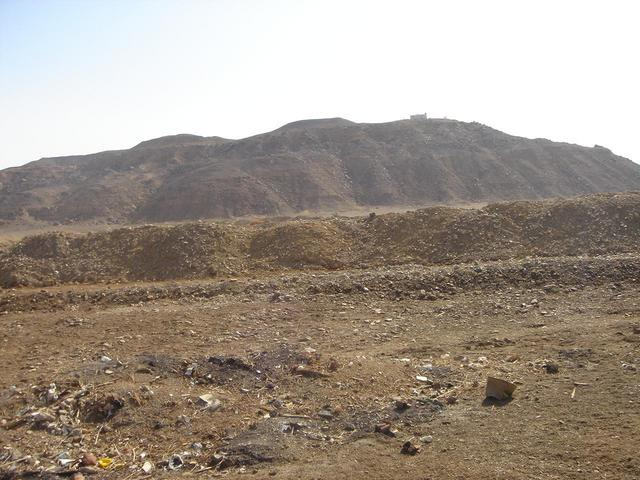 View to the West, note police station on jabal