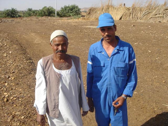 Sa`d with local farmer