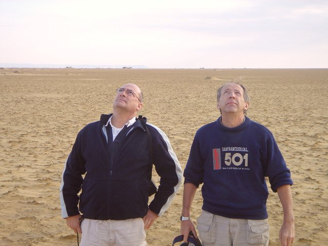 Steve and Tony, lowest of the low, looking up at all other confluence hunters todate.