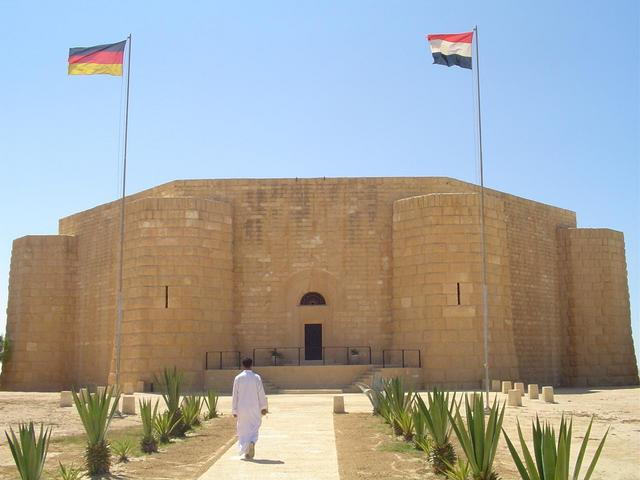 German war memorial at al-`Alamayn with 4,200 buried there