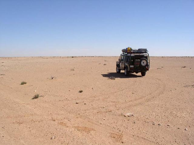Overland vehicle at confluence site