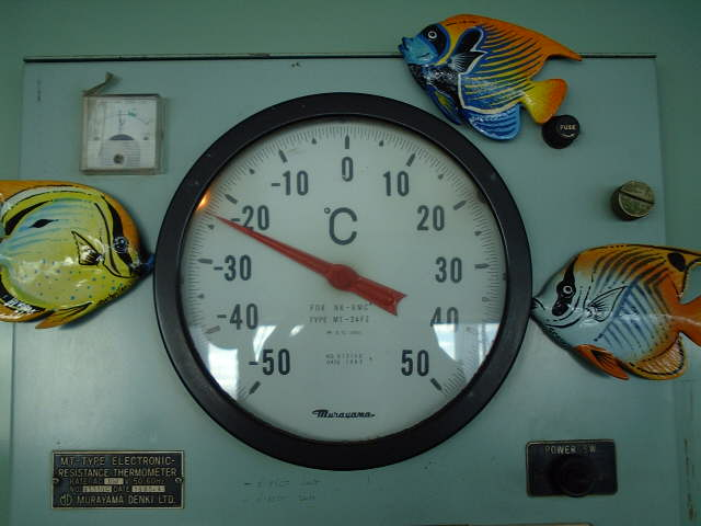 Temperature indicator for cargo holds, return air