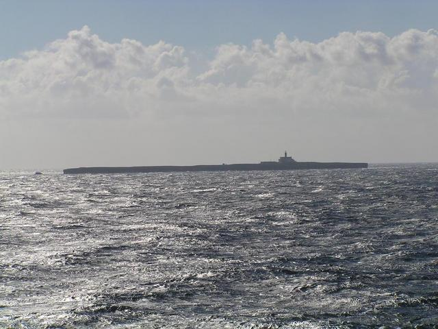 Alborán seen from the West resembles to a huge tanker