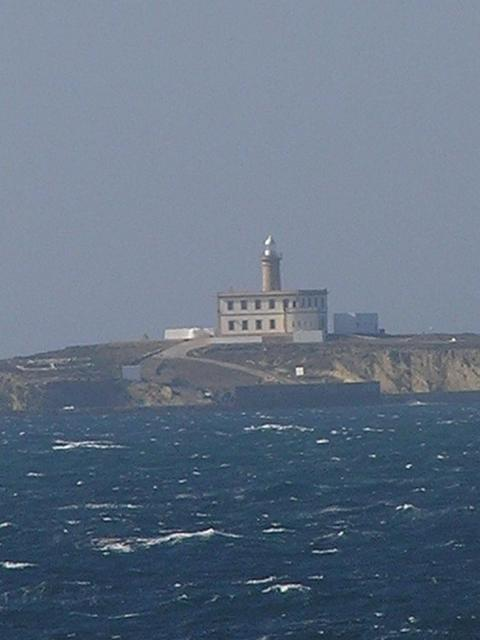 The prominent lighthouse of Alborán