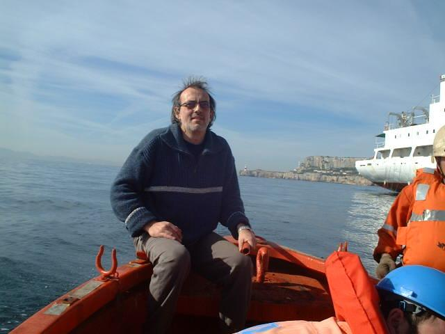 Captain Peter is manoeuvering the lifeboat
