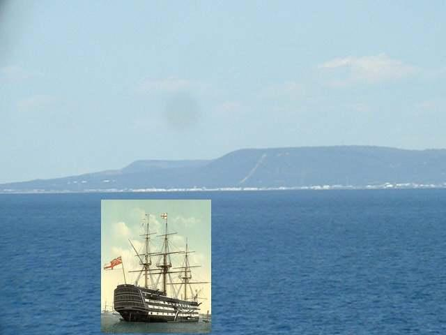 "Admiral Nelson's flagship ""Victory"" and a closer look to Cabo Trafalgar"