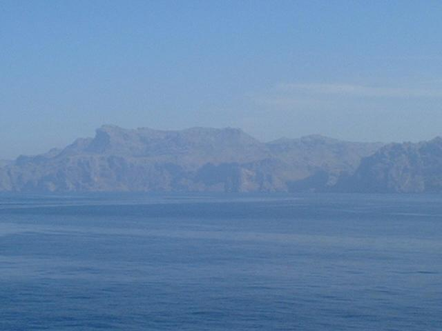 a general view to Mallorca's rocky North Coast