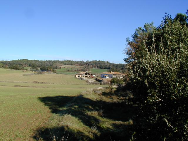 NE View, a tipical Catalan farm. (Masia)