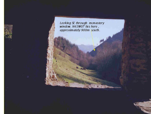 General View of area of N43W7 through monastery window