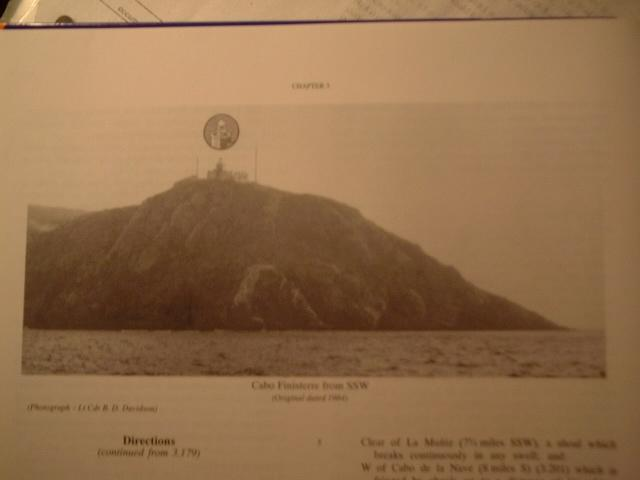 Cabo Finisterre on a photo in the Admiralty's Pilot Book